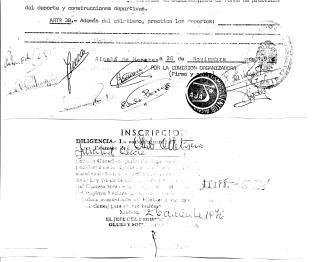 20 de Noviembre de 1976 Registro del Club AJA y firmas de Fundadores
