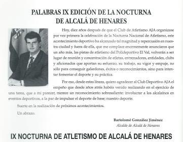 1996 IX Nocturna Bartolomé González